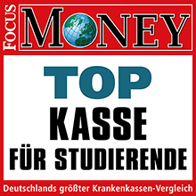 Focus Money: Top Kasse für Studierende